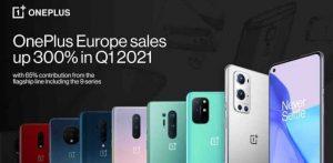 H OnePlus στην Ευρώπη ξεκινά δυναμικά το 2021 με πάνω από 300% ανάπτυξη